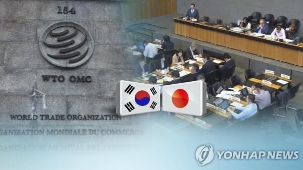 정부는 이번주 열리는 WTO이사회에서 일본 수출규제의 부당성을 설명하고 철회 압박 분위기를 환기시킬 작정이다. [그래픽= 연합뉴스]